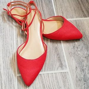 Banana Republic Ankle Strap Pointed Flats Size 7.5